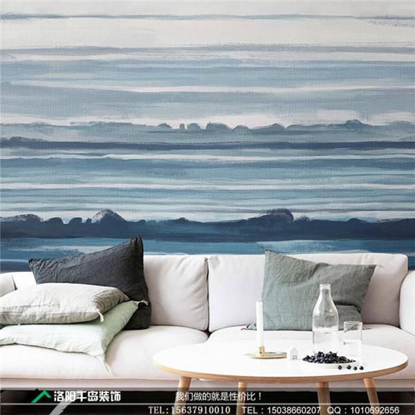 手绘壁画 大海 北欧