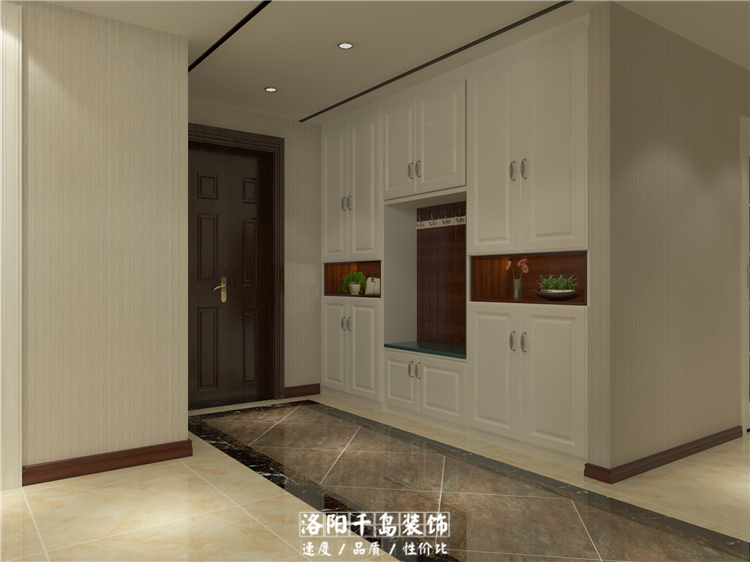 """建筑面积:约180 空间性质:3室2厅1卫1厨 项目地址:洛阳""""正大国际 """"小区 主要材质:瓷砖 壁纸 壁布 艺术漆 石材 木饰面 不锈钢 装修预算:半包8.6万 设计说明:随着洛阳都市生活节奏的加快,我们开始厌倦了以往传统的欧式风格、中式风格的家,就想有一个简约温馨的家,但是对于180平方米的大户型来说,简约也要有自己的调调。"""