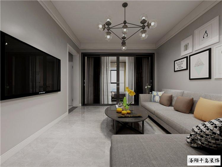 保利香槟国际89㎡二室黑白灰改造案例