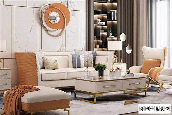 客厅沙发墙添加镜面