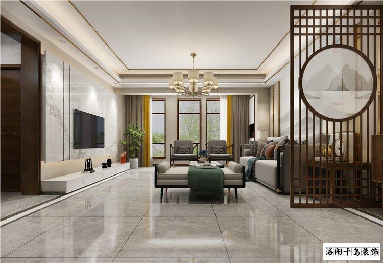 洛阳建业龙城170㎡四居新中式排列五计算器案例