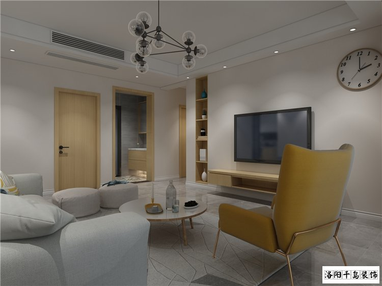 客厅排列五计算器效果图